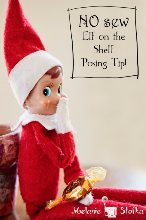 """Without glue dots our elf's mischief wouldn't be quite so """"mischievous."""""""