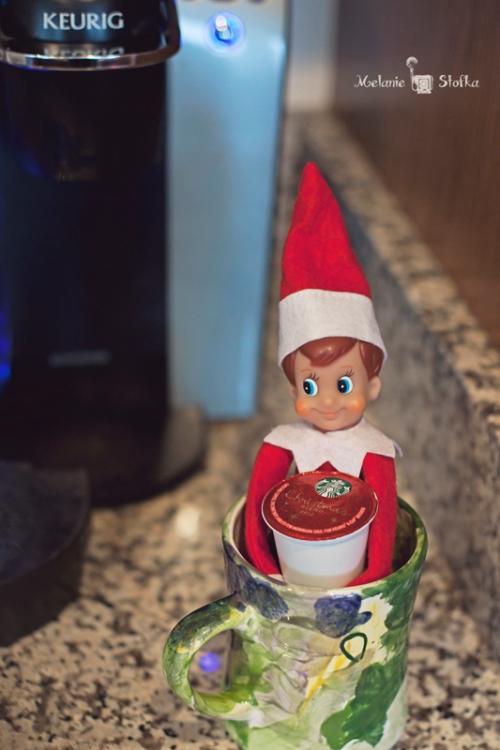 Looks like elves like the special Starbucks Christmas  blend!