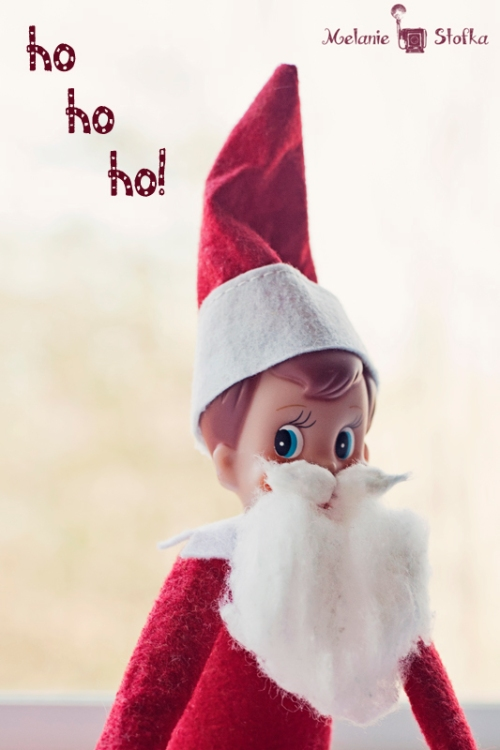 Getting His Santa On Elf on the Shelf. Click for more ideas! #elfontheshelf