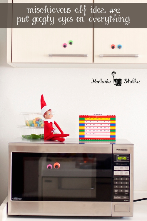 Elf on the Shelf puts googly eyes on everything!