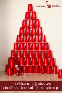 Elf mischief - red solo cup Christmas tree!